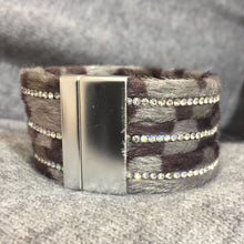 Grey Animal Print Bangle