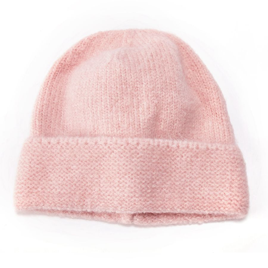 Baby Pink Knitted Beanie Hat