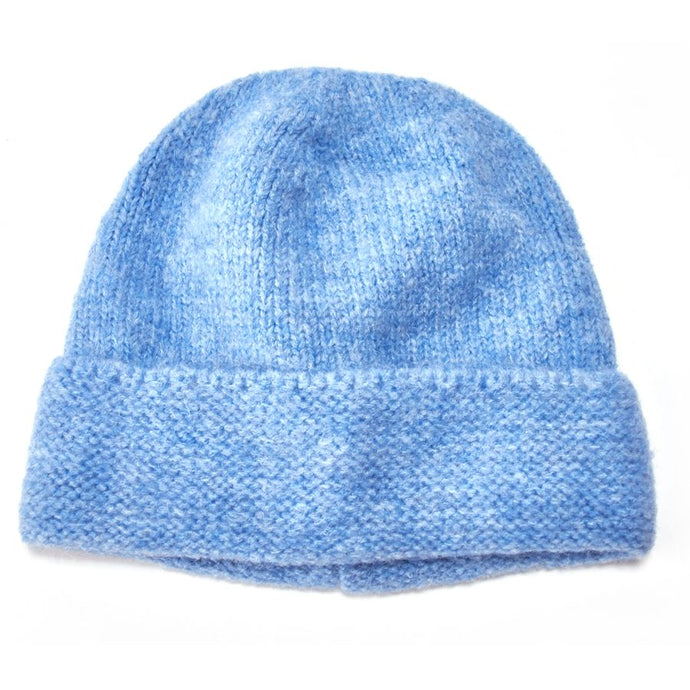 Powder Blue Knitted Beanie Hat