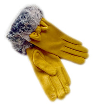 Yellow Bow Gloves