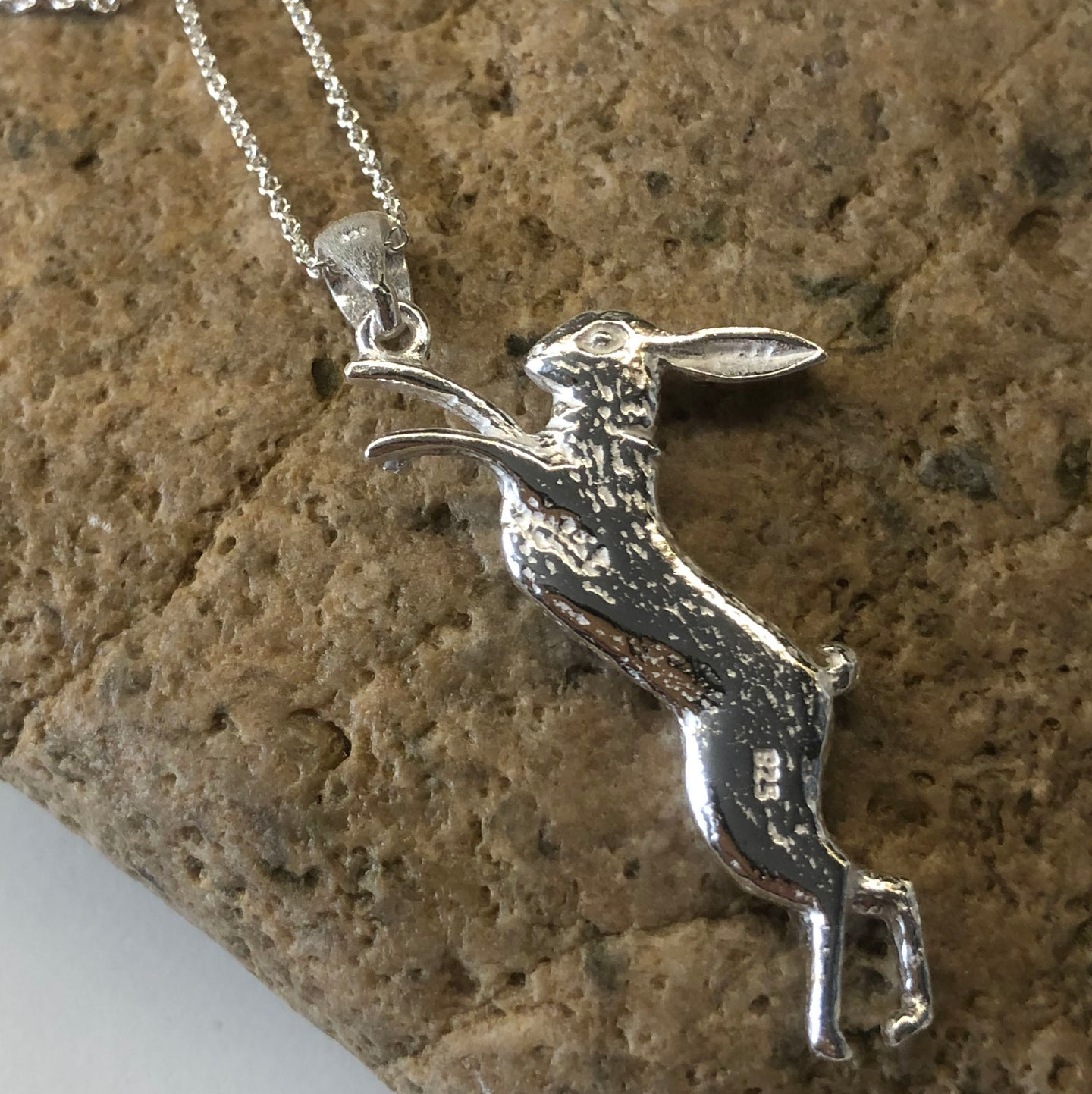 Boxing Hare Pendant Necklace