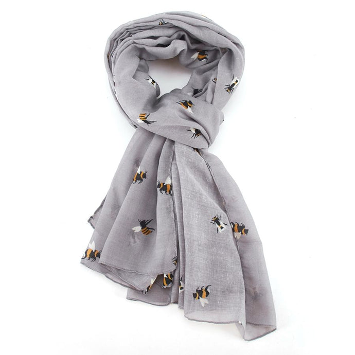 Grey Busy Bee Scarf
