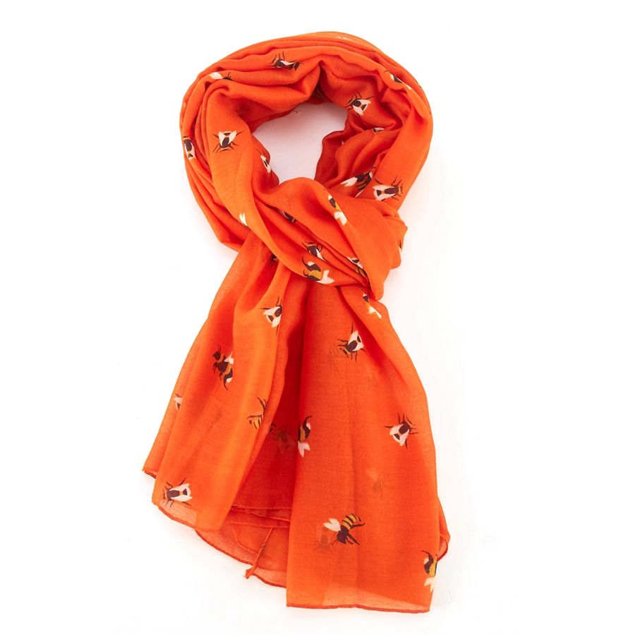 Orange Busy Bee Scarf