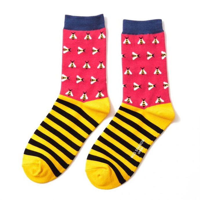 Busy Bee Socks Hot Pink