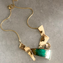 Carla Necklace Gold & Green