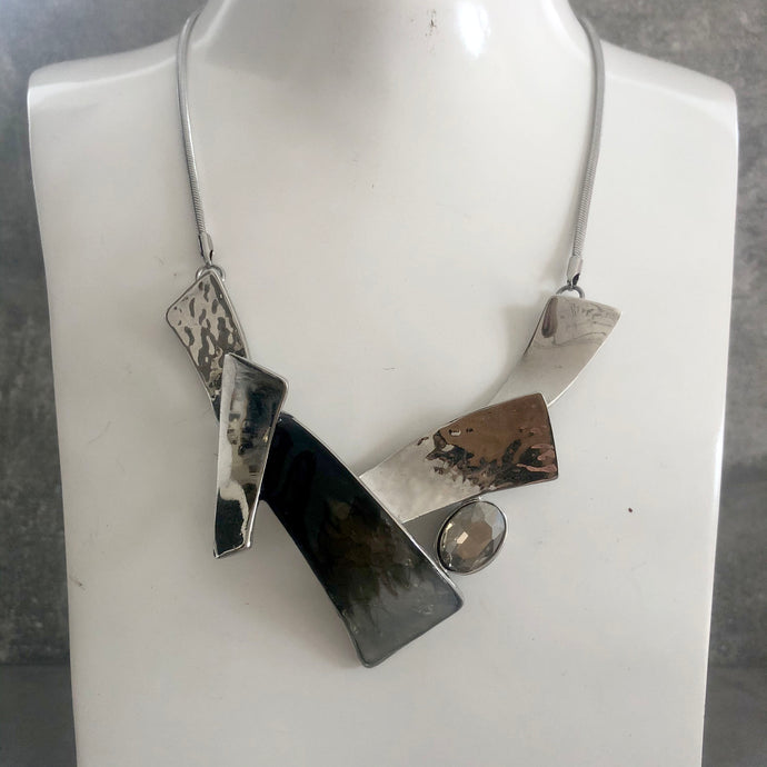 Carla Necklace Grey & Silver