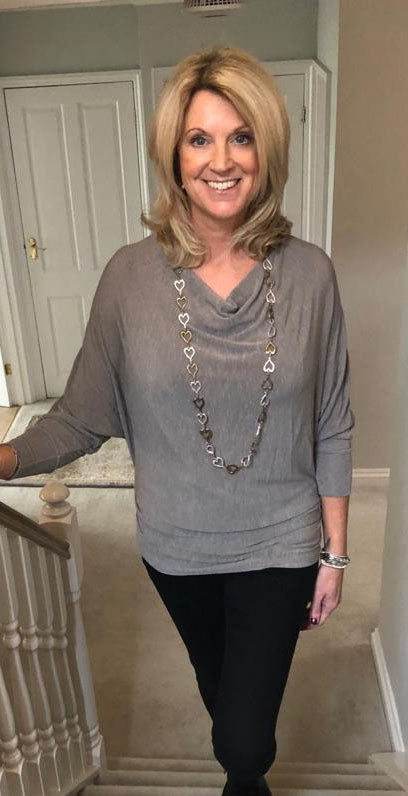 Cowl Neck Top Grey