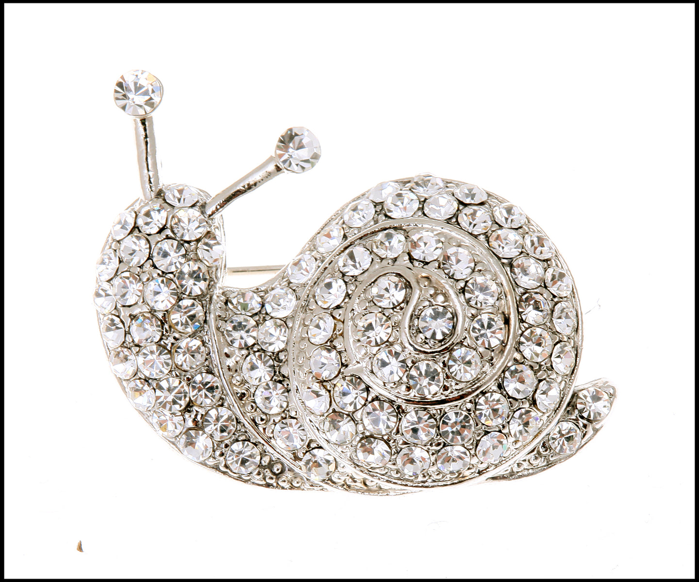 Diamanté Snail Brooch