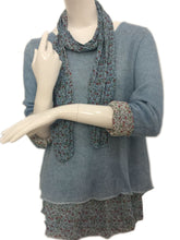 Pale Blue Floral Scarf Jumper