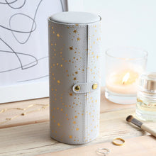 Gold Star Travel Jewellery Tube in Grey