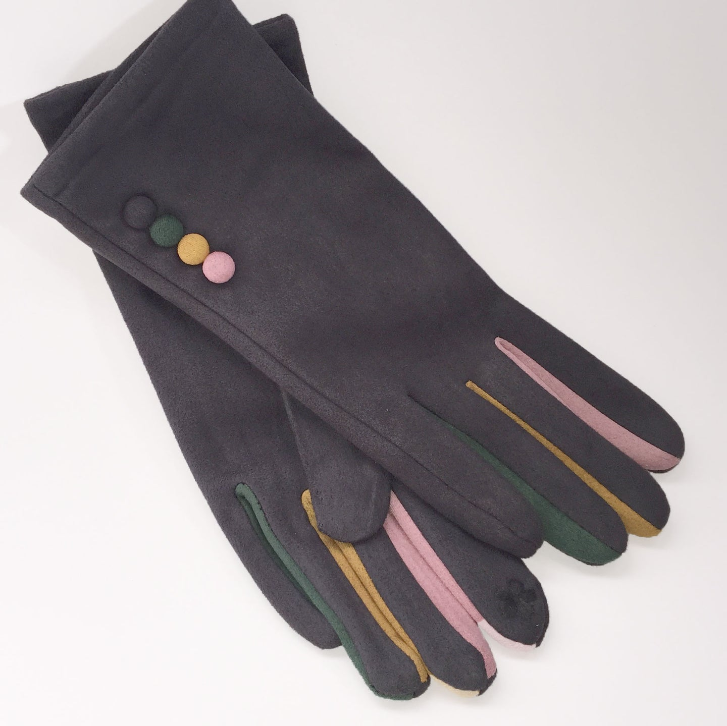 Grey Rainbow Gloves