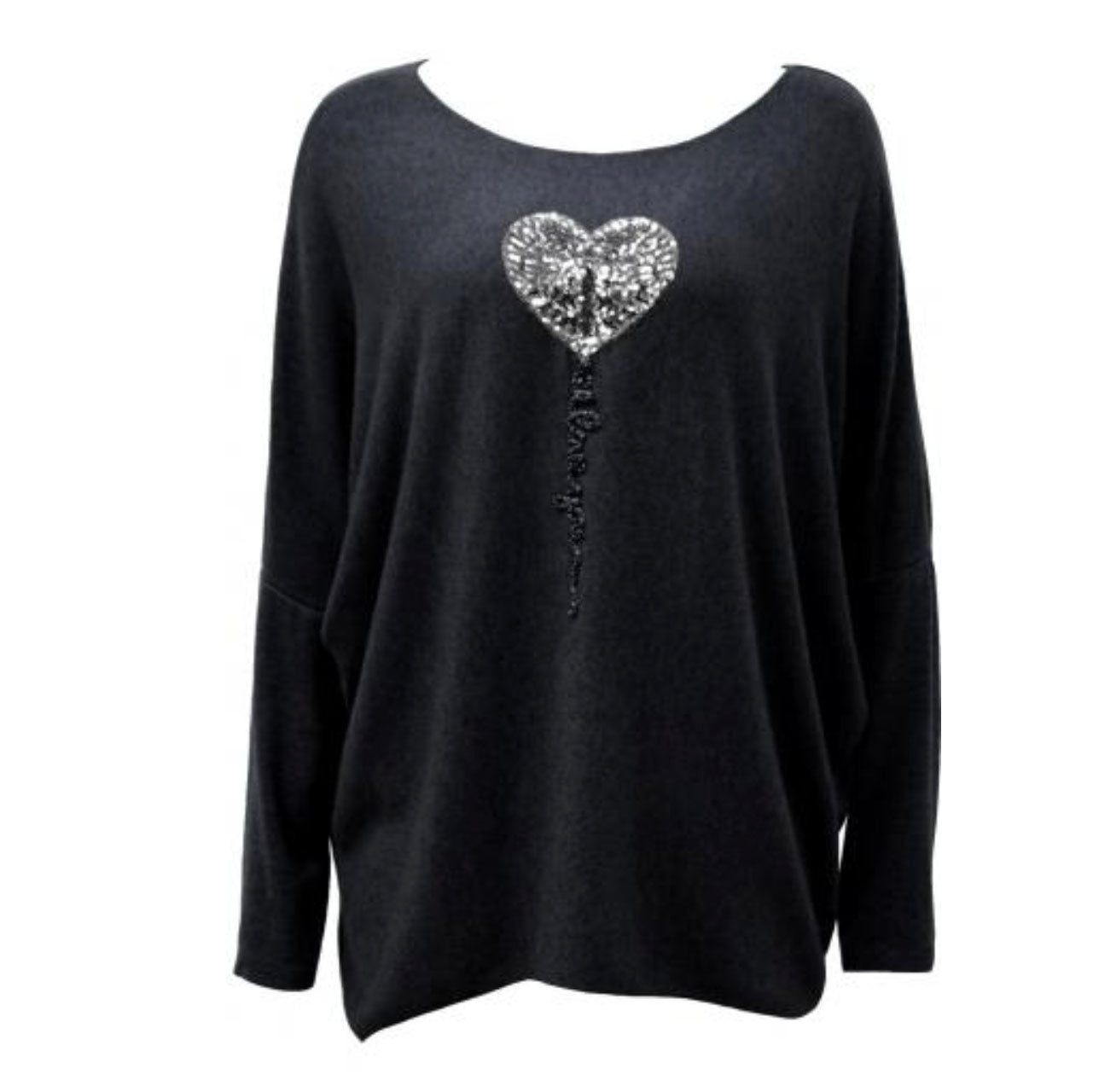 Black Heart Jumper