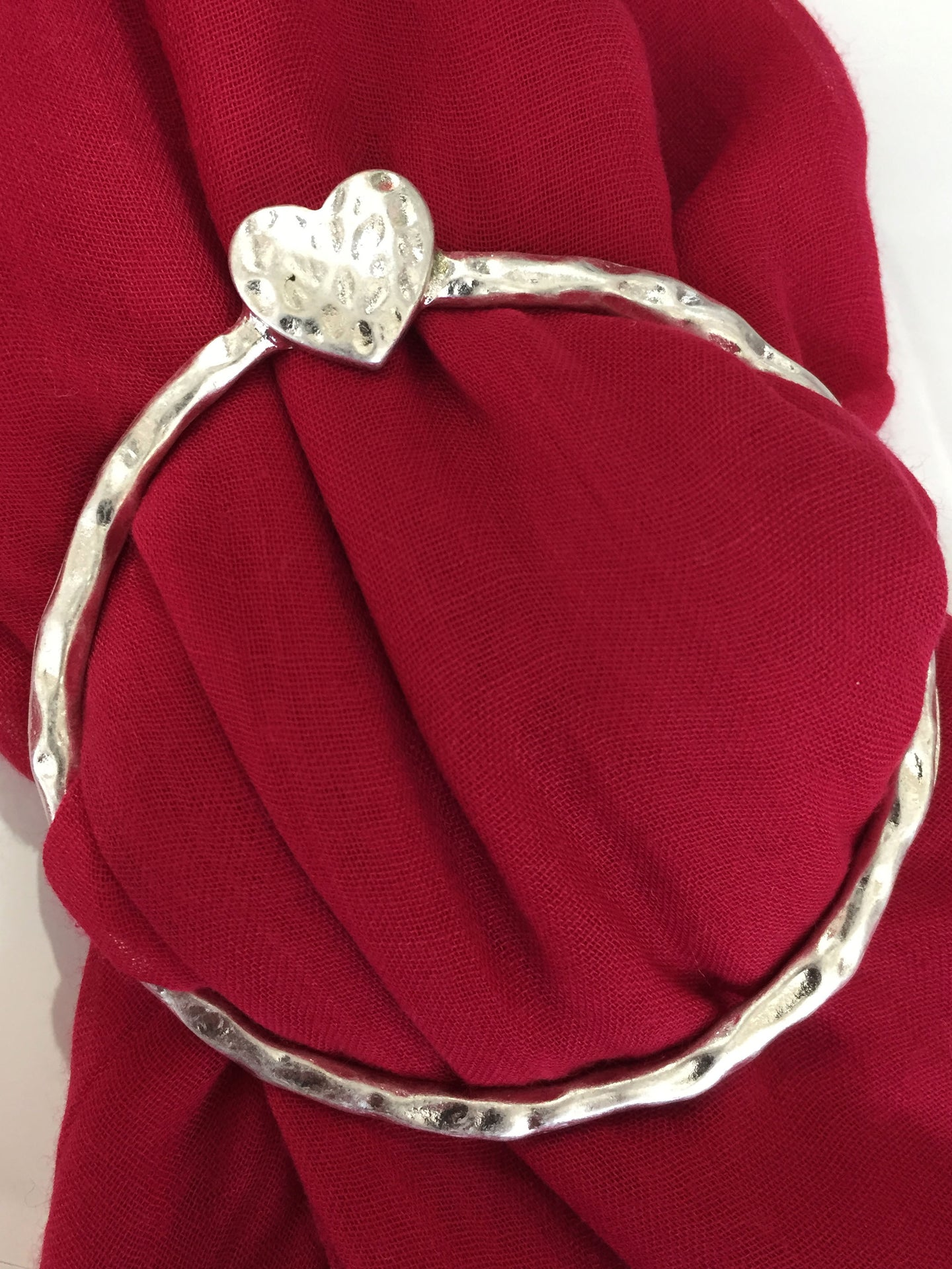 Heart Scarf Ring