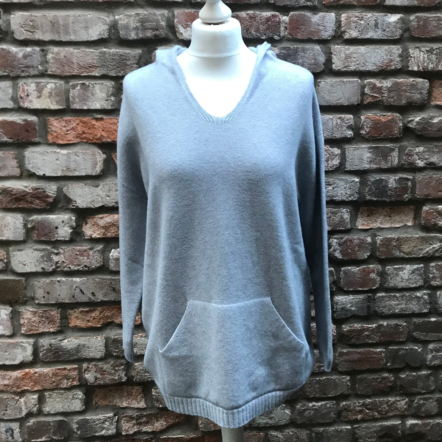 Pale Blue Hooded Top