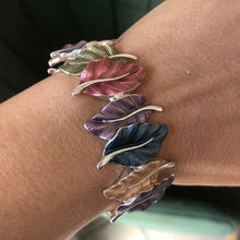 Enamel Leaves Bangle