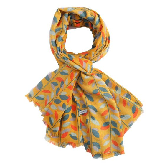 Leaves Mustard Scarf