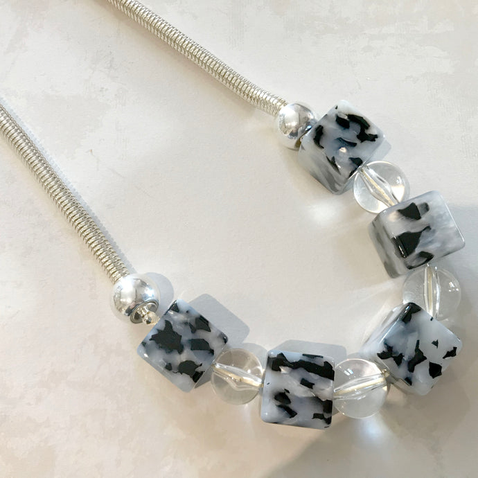 Leopard Print Perspex Necklace
