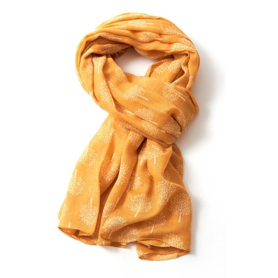 Mustard Mulberry Tree Scarf
