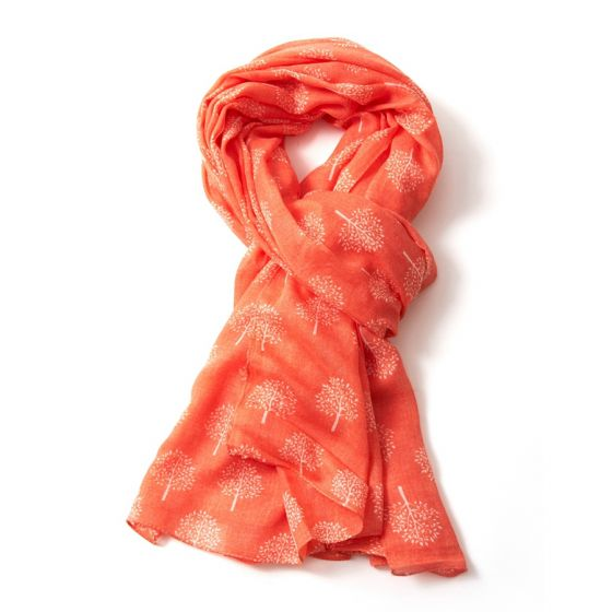 Orange Mulberry Tree Scarf
