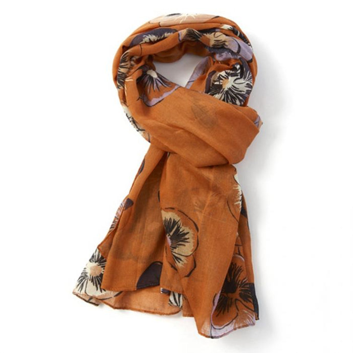 Orange Pansy Scarf