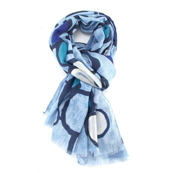 Blue Pebble Scarf