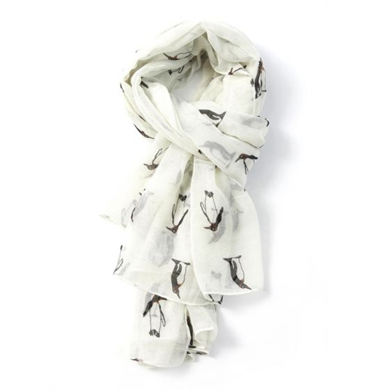 Cream Penguin Scarf