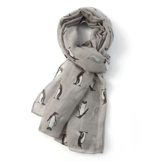 Grey Penguin Scarf