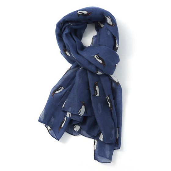 Navy Blue Penguin Scarf