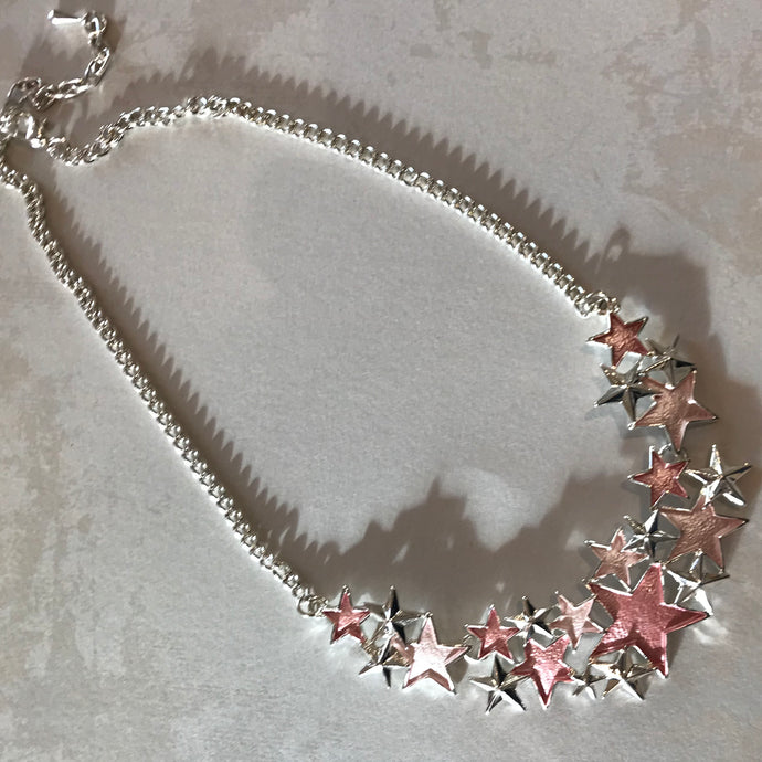 Pink Stars Necklace