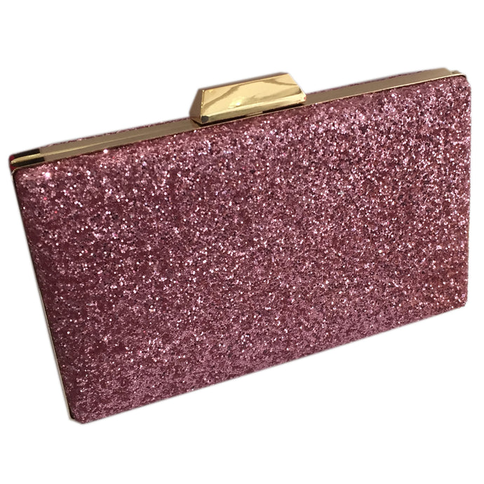 Sparkly Pink Clutch Evening Bag