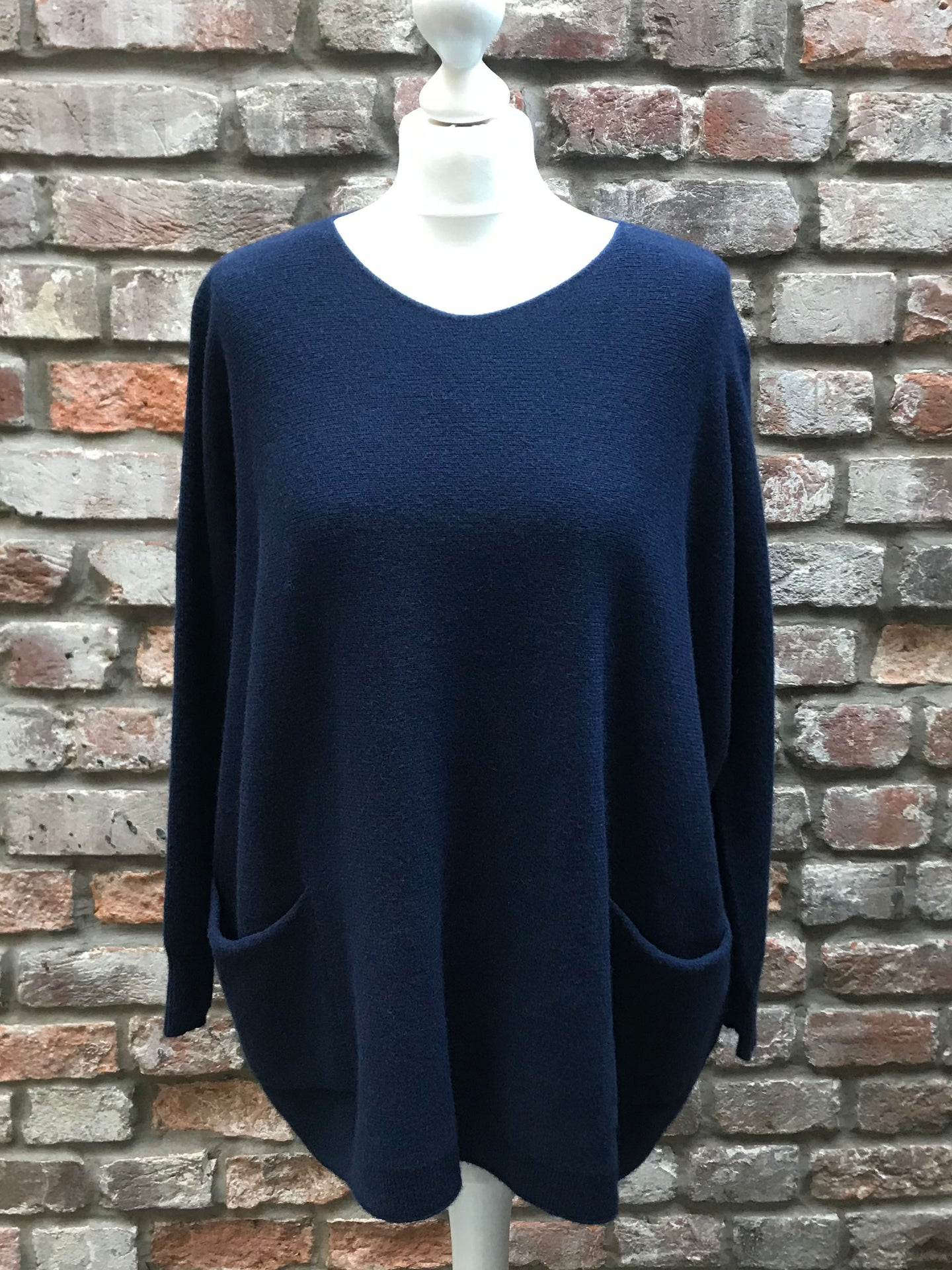 Navy Blue Pocket Top
