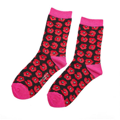 Black Poppies Socks