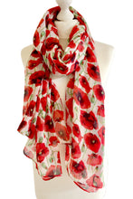 Navy Blue Poppy Bloom Scarf