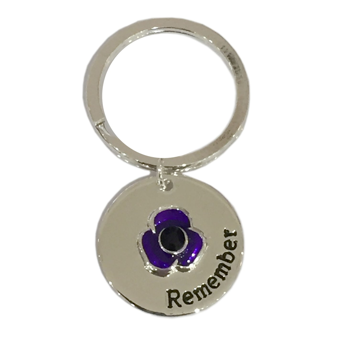 Purple Poppy Pet Collar or Keyring