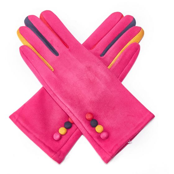 Pink Rainbow Gloves