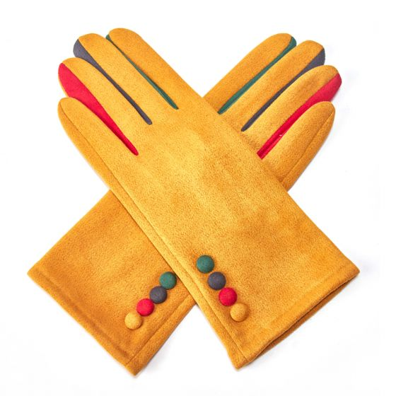 Mustard Rainbow Gloves