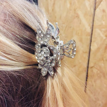 Rose Diamante Hair Clip