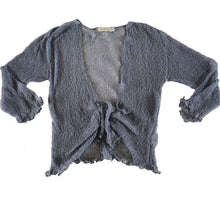 Grey Crochet Shrug