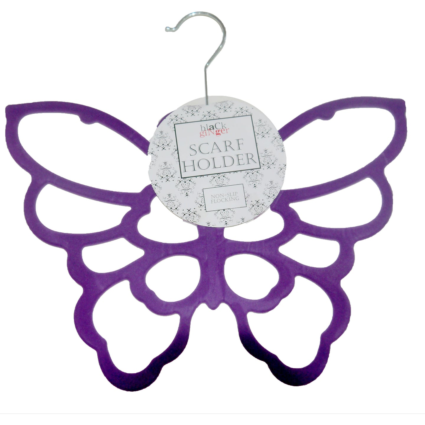 Purple Butterfly Scarf Holder