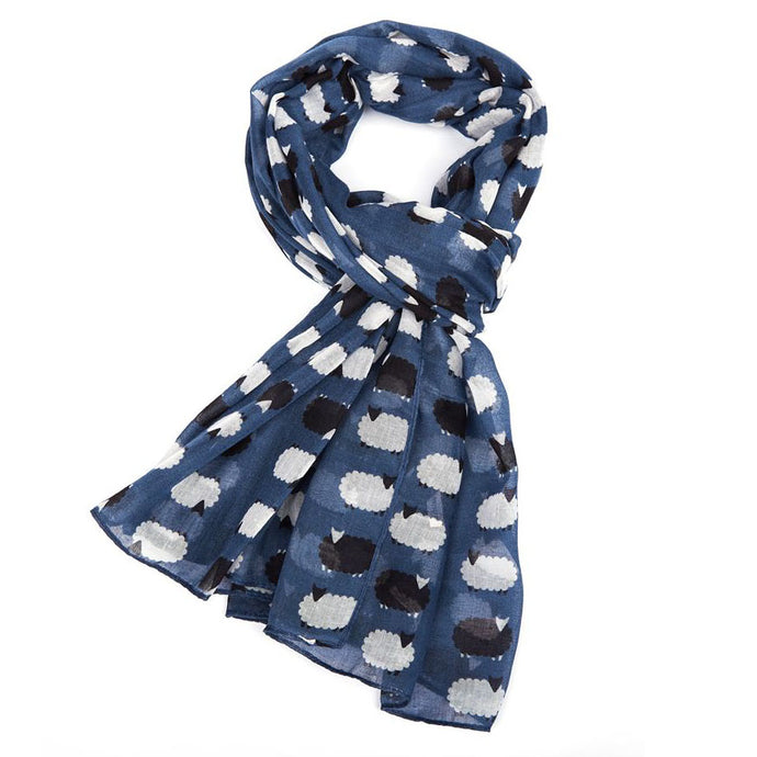 Sheep Meadow Navy Blue Scarf