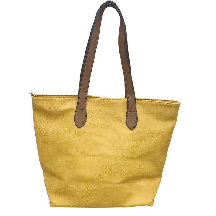 Yellow Shopper Bag- Tote handbag