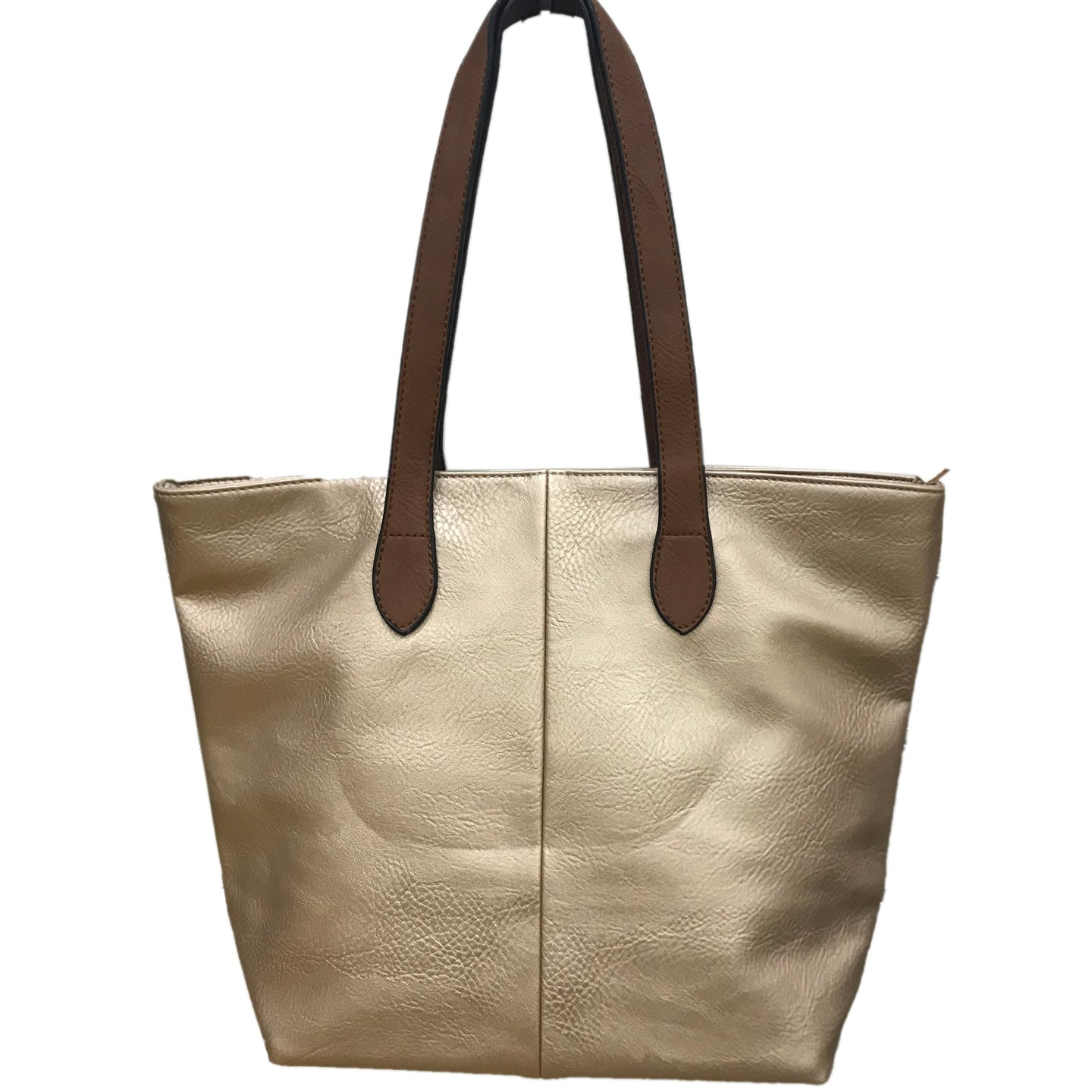 Gold Shopper Bag- Tote handbag
