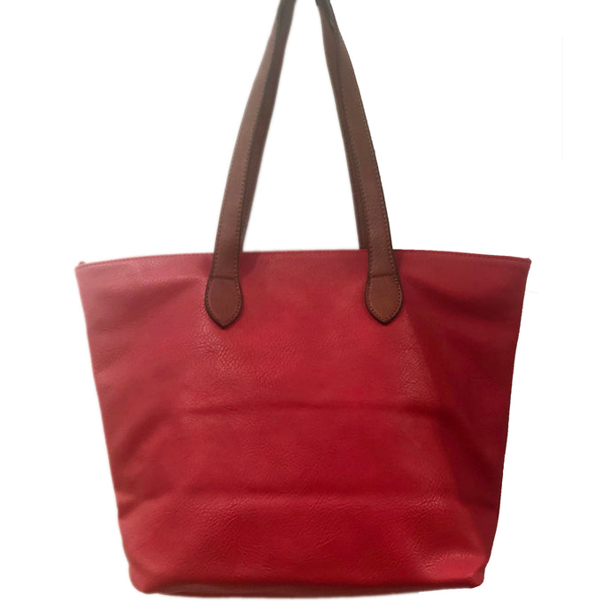 Red Shopper- Tote Handbag