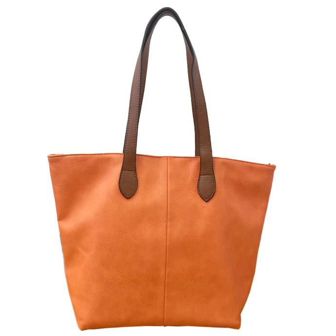 Orange Shopper Bag- Tote handbag