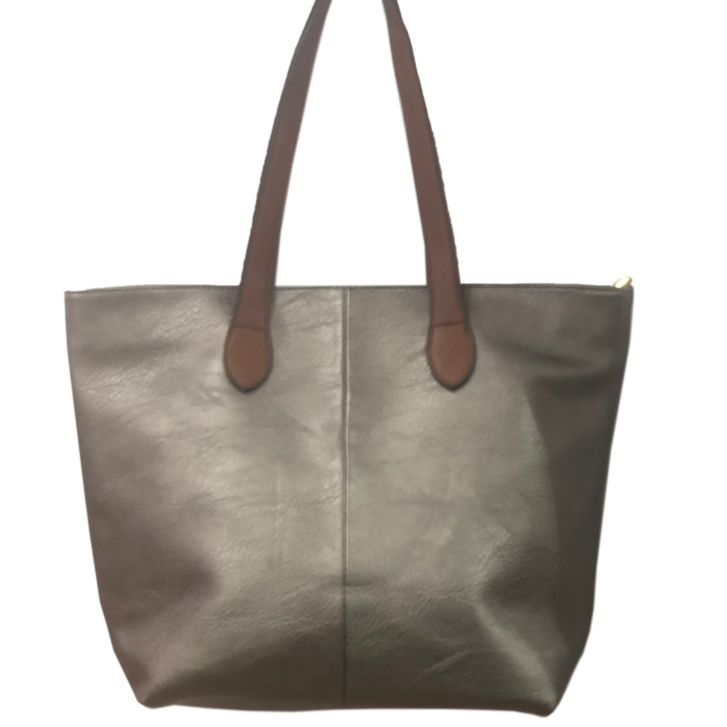 Pewter Shopper Bag- Tote handbag