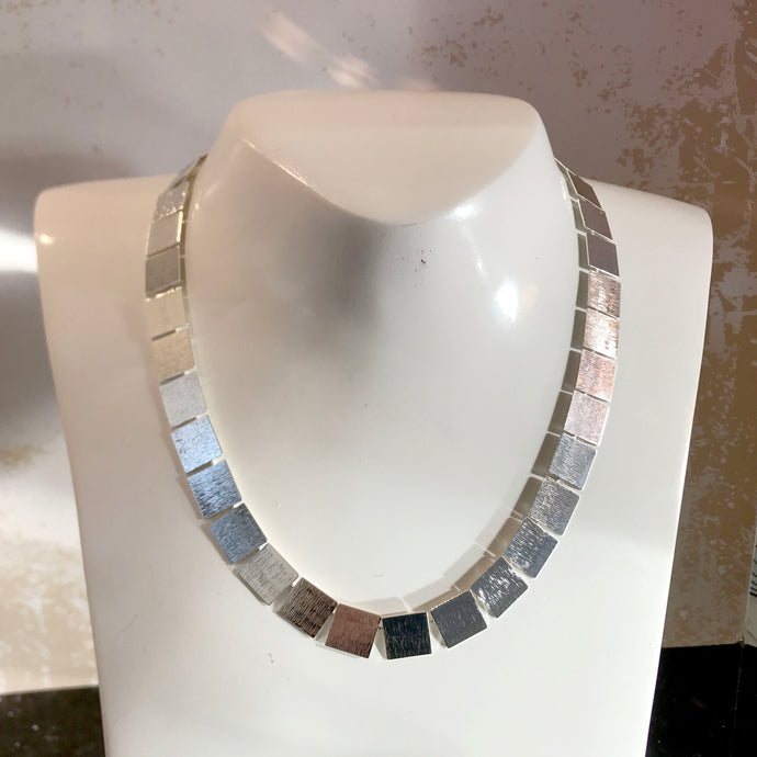 Silver Squares Necklace
