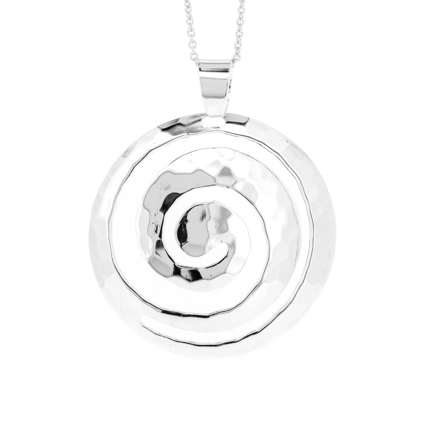 Silver Swirl Pendant Necklace