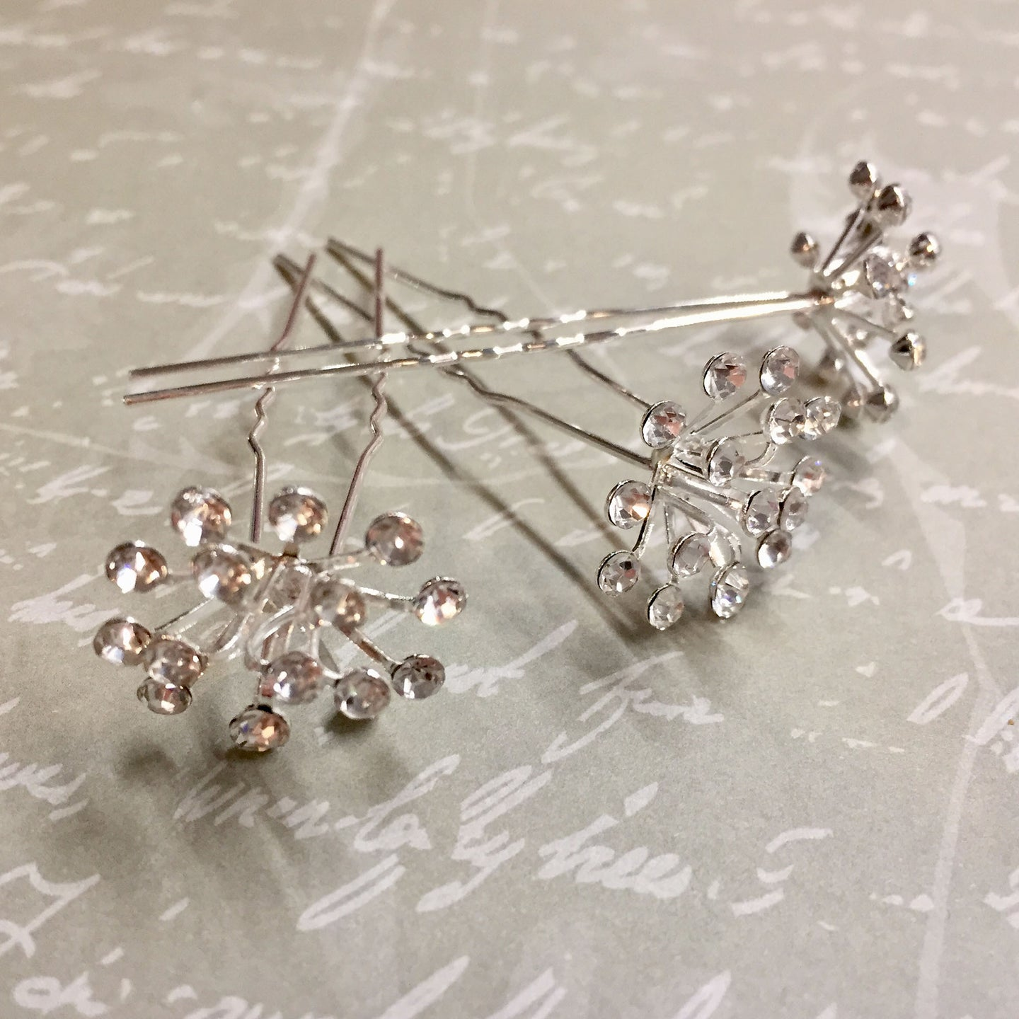 Snowflake Diamanté Hairpins