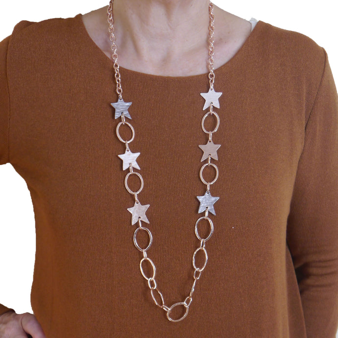Stars & Loops Long Necklace