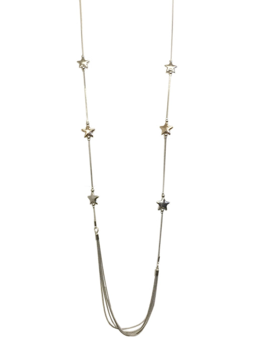 String of Stars Silver Necklace